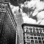 Empire State Building And New York City Skyline Art Print