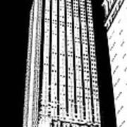 Empire State Building In Constrasting White Art Print