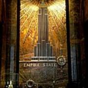 Empire State Building - Magnificent Lobby Art Print