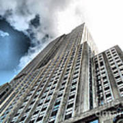Empire State Building - Vertigo In Reverse Art Print