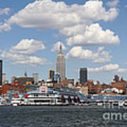 Empire State From The Water Art Print