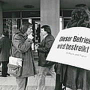 Employees Of Printing - Offices On Strike Throughout Art Print