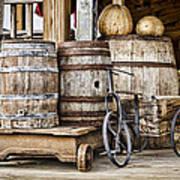 Emptied Barrels Art Print