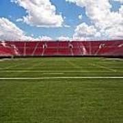 Empty American Football Stadium Art Print