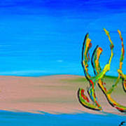 Empty Beach In Tel Aviv Abstract Seascape Art Print