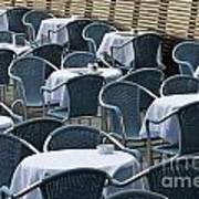 Empty Restaurant Seats And Tables Art Print
