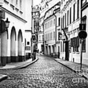 Empty Street In Prague Art Print