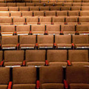 Empty Theater Chairs In Ventura Arts Art Print