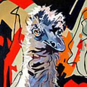 Emu Design In Acrylic Art Print