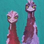 Emu Watch Art Print