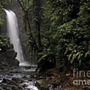 Encantada Waterfall Costa Rica Art Print