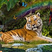 Enchaned Tigress Art Print