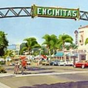 Encinitas California Print by Mary Helmreich