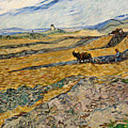 Enclosed Field With Plowman  Art Print
