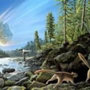End Of Cretaceous Kt Event Art Print