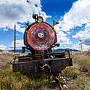 End Of The Line - Steam Locomotive Art Print