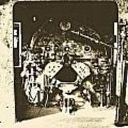 Engine Iron Art Print