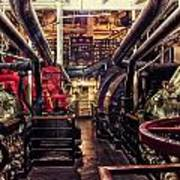 Engine Room Queen Mary 02 Art Print
