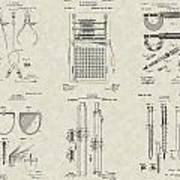 Engineering Tools Patent Collection Art Print