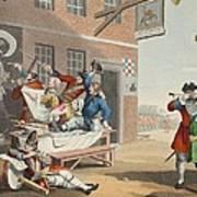England, Illustration From Hogarth Art Print