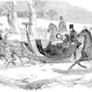 England Royal Sledge, 1854 Art Print