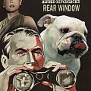 English Bulldog Art Canvas Print - Rear Window Movie Poster Art Print