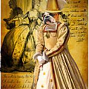 English Bulldog Art Canvas Print  Art Print