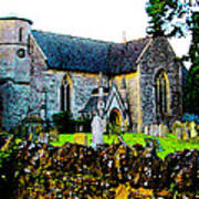 English Churchyard Art Print
