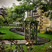 English Country Garden And Mansion - Series IIi. Art Print