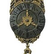 English Lantern Clock 18th C.. Baroque Art Print