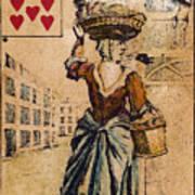 English Playing Card, C1754 Art Print