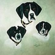 English Setter Momma And Pups Art Print