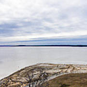 Enid Lake - Winter Landscape Art Print