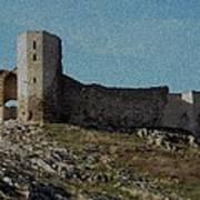 Enisala Fortress Canvas Art Print