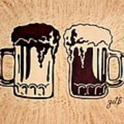 Enjoying Beer Art Print