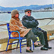 Enjoying Late Fall In Cannes Art Print