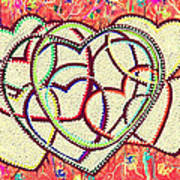 Entangled Hearts Art Print by Karunita Kapoor