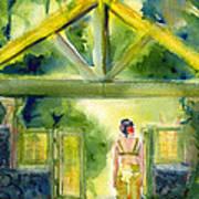 Enter The Garden Art Print