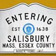 Entering Salisbury Art Print