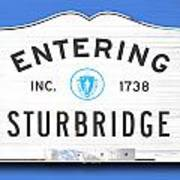 Entering Sturbridge Art Print