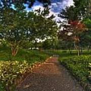 Entering The Japanese Garden Art Print