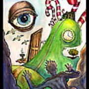 Entering The Lucid Dream Art Print by John Ashton Golden