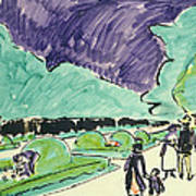 Entrance To A Large Garden In Dresden Art Print by Ernst Ludwig Kirchner
