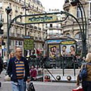 Entrance To The Paris Metro Art Print