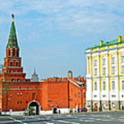 Entry Gate At Armory Museum Inside Kremlin Wall In Moscow-russia Art Print