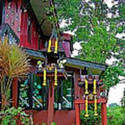 Entry Of A Thai Teak Home In Bangkok-thailand Art Print