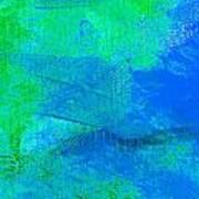 Envision Aqua Blue Art Print