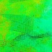 Envision Aqua Green Art Print