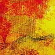 Envision Red Golden Art Print