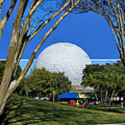 Epcot Globe 02 Art Print by Thomas Woolworth
